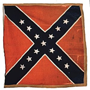 Confederate Flag - 13 Stars (Captured by 7th Regiment, NJ Volunteers, Chancellorsville, Presented to National Parks Service in 1963) (CN 140)